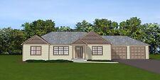 Custom Home House Plan 1,696 SF Ranch w/Basement Blueprint #1323