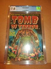Tomb of Terror 1 CGC 7.0 OW/W Rare: JUST 2 SOLD FINER, EVER! 1952 FN/VF Harvey