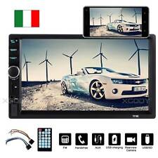 "7"" Autoradio 2Din Touch Screen MP5 MP3 Player Bluetooth Stereo USB AUX-IN FM IT"