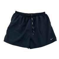 Nike Dri-Fit Women's Athletic Running Shorts XL Polyester Lined Dark Navy
