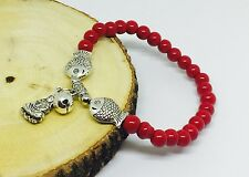 Stretchable Fashion Buddha Bracelet with Stones and Fish Findings