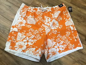 New Roundtree Yorke Swim Trunks Shorts 2X Big Men's Suit Swimwear Beach Tropical