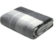 "55x79"" Merino Wool Cashmere Blend Gray THROW BLANKET WRAP Natural Warm Soft Cozy"