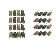 32PCS Tank Model 1/144 4D Plastic Heavy Armor Tank Collectibles Model Hobby