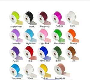 Eleganza Deco Mesh ribbon by Oaktree 63mm wide various colours Premium quality