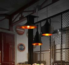 Artistic Vintage Pendant Ceiling Light Black Iron Lampshade Fitting Art Deco LED