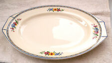 1912 + J & G MEAKIN TWIN - HANDLED  MEDIUM PLATTER WITH A FLORAL PATTERN