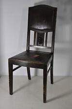 Alt-Wiener Heurigen-Eichestuhl/Stuhl mit Kunstleder u Traube Sitzfläche um 1890