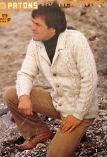 Patons Knitting Pattern Book 619 - Herdwick 8ply - 8 designs for Men