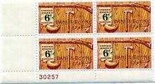 GENUINE USPS 6 cent Daniel Boone (Scott 1357) plate block (MNH)