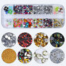 Colorful Rhinestones Beads Fimo Sequins Pearl Floral Manicure 3D Nail Decoration