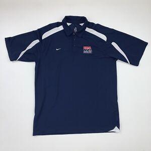 Nike USA Basketball Polo Shirt Size Men's 2XL Blue