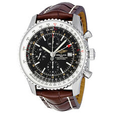 Breitling Navitimer World Automatic Chronograph Black Dial Mens Watch