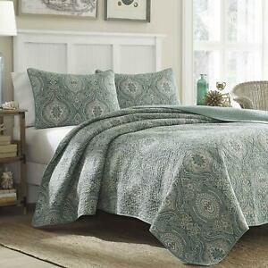 Tommy Bahama Turtle Cove Quilt Set, Green, King