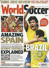 World Soccer magazine Euro Spain Olympic preview Libertadores Cup Mano Menezes