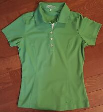 Euc Women's Size Xs Green Nike Golf Fit Dry Short Sleeve Shirt