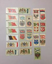 LOT 21 Vintage FLAGS of NATIONS Tobacco Trading Cards 1930's PLAYER'S Cigarettes