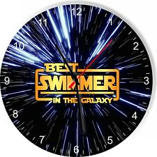 Best Swimmer in the Star Galaxy Space Kitchen Living room Wall Clock