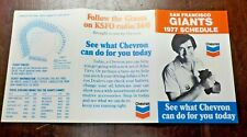 1977   SAN FRANCISCO GIANTS    Pocket Schedule -   Chevron