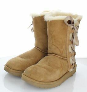 55-39 Women's Size 8 M UGG Pala Suede Sheepskin Shearling Lined Boots Chestnut