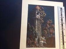 1950 S Gravure sur bois Imprimer Le Minaret de l'oiseau TALISMAN par Gwendolen Raverat