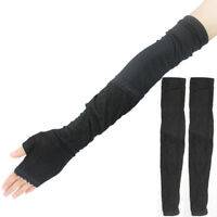 Creative Ladies Extra Long Lace Arm Warmers Fingerless Gloves Sleeve Black Hot