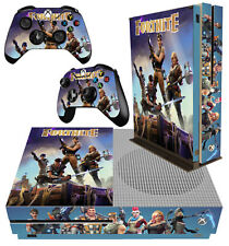 XBOX ONE S SLIM Sticker Fortnite Survival Sandbox Building SKIN & 2 PAD SKINS