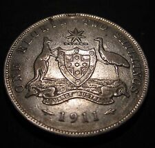 1911 Australia 2/- Two Shillings One Florin #170601-01