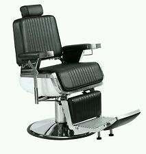 Stainless Steel LincolnII Heavy Duty Hydraulic Recline Barber Chair Salon Beauty