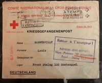1940 Geneva Switzerland Pow Agencies Red Cross cover to Front Stalag 100 Germany