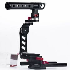 15mm Rod Rig Camera Video Cage Kit + Top Handle Grip for Canon Nikon Pentax 5D