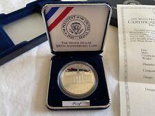1992 White House 200th Anniversary Coin Silver Dollar W/COA And Box