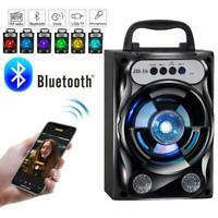 Bluetooth Speaker Wireless Bass Stereo Sound System FM Radio Outdoor Travel