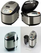 Zojirushi NS-LGC05XB Micom Rice Cooker & 3-Cups (uncooked),, Stainless Black