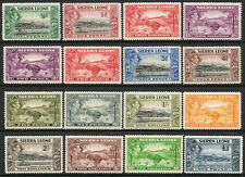 Sierra Leone 1938 KGVI set of mint stamps value to £1  Very lightly Hinged