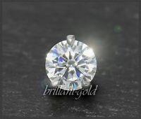 Diamant 585 Gold Brillant Anhänger 0,35ct, Lupenrein; 14 Karat Weißgold Gleiter