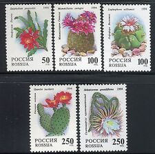 RUSSIA 1994 FLOWERS/NATURE/PLANTS/CACTUS/EPIPHYLLUM/MAMMILLARIA/SELECINEREUS MNH