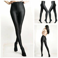 Fashion Women High Waist Oil Shine Glossy Shape Body Pantyhose Stocking Tights