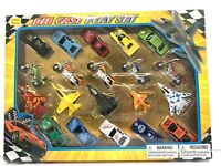 20 Piece Die Cast Metal Toy Car Model Vehicle Play Set Girls/Boys/Kids Ages 3+