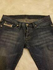 Womens Diesel Zerox Distressed Low rise Blue Denim Womens jeans Bootcut S7-B29
