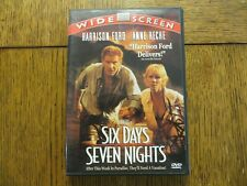 Six Days Seven Nights - Harrison Ford, Anne Heche 1998 Touchstone DVD LIKE NEW!!