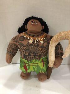 Disney Moana Mega Maui Figure 16 inch Talking Doll Preowned EUC