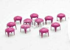 Free Shipping - 100pcs 6mm Pink Cone Conical Studs Spots Nailhead Leather S278