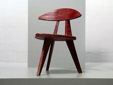Dreibein-Stuhl von Walter Papst für Wilkhahn, Modell 360 1954, Rot Vintage