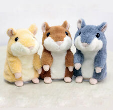 1x Adorable Toy Mimicry Pet Speak Talking Record Hamster Mouse Plush Kids Toy XC