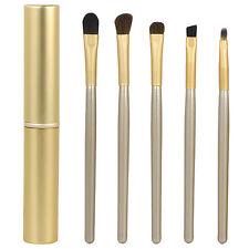 5 piezas ORO Cosmético Maquillaje Set de brochas & Almacenaje Funda Profesional
