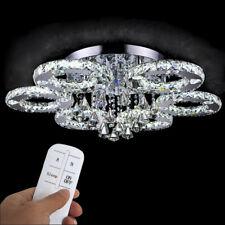 LED Kristall Deckenlampe 88W Kaltweiß Kronleuchter Pendelleuchte + Fernbedienung