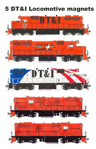 Detroit, Toledo & Ironton Locomotives 5 magnet set Andy Fletcher