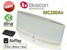 NEW BOSTON ACOUSTICS MC200Air WIRELESS SPEAKER iPOD iPHONE AIRPLAY WHITE RRP$549