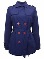 BNWOT M&S LADIES WOMENS NAVY Belted Trench Coat - SIZE  8 10 12 14 16 18 20 22